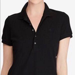 Lauren women's stretch pique polo shirt size: M.